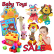 Sozzy/baby hand rattle/cloth book/early development toys educational/animal soft plush doll/hanging