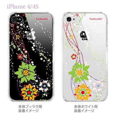 【Vuodenaika】【iPhone4/4Sケース】【カバー】【スマホケース】【クリアケース】【フラワー】 21-ip4-ne0031caの画像