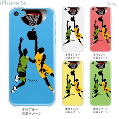 【iPhone5c】【iPhone5cケース】【iPhone5cカバー】【iPhone ケース】【クリア カバー】【スマホケース】【クリアケース】【イラスト】【クリアーアーツ】【バスケットボール】 01-ip5c-zec063の画像