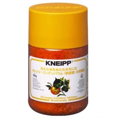 クナイプ KNEIPP バスソルト オレンジ 500g クナイプ/KNEIPP/バスソルト/芳香浴/入浴剤/岩塩/精油/ハーブ/オレンジ/500gの画像