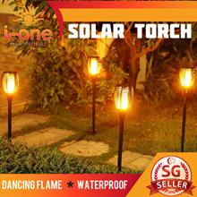 Solar Flame  Light 96 LED torch Outdoor Weatherproof Garden Flood Lights Bright Energy Saving PIR