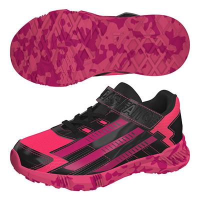 アディダス (adidas) ジュニア アディダスファイト EL K(スーパーピンク×ボールドピンク×コアブラック) B24098 [分類:キッズ・子供靴 スニーカー]の画像