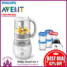 Philips Avent 4 IN 1 Healthy Baby Food Maker Bundle (2 Years International Warranty)