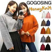 【プチプラgogosing♪】ボリュームタートル5GルーズニットP000BSVH韓国ファッション