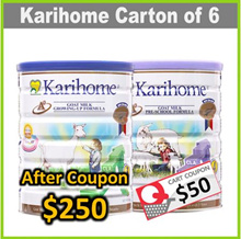 [Bundle of 6] [KARIHOME] 900g Goat Milk Powder ★ From New Zealand ★ for Kids 12m+ or 3yo+