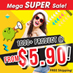 MEGA SUPER SALE AS LOW AS $5.90!!!]  HURRY!