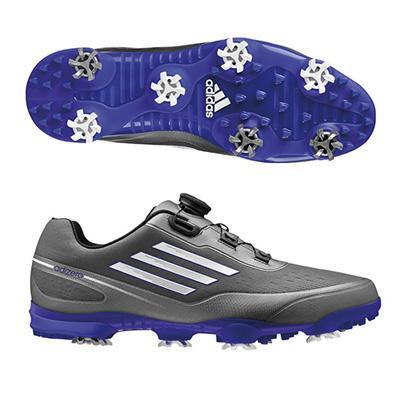 アディダス (adidas) adizero prime Boa WD(ダークシルバーメタリック×ホワイト) Q44557 [分類:ゴルフシューズ スパイク (メンズ)] 送料無料の画像