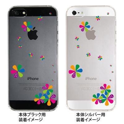 【iPhone5S】【iPhone5】【iPhone5】【ケース】【カバー】【スマホケース】【クリアケース】【フラワーカラーC】 ip5-22-fn0003の画像