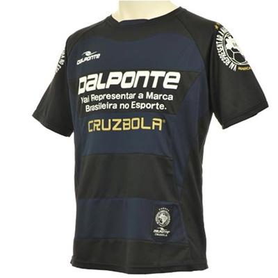 ダウポンチ(Dalponte)ボーダープラクティスシャツDPZ53JrBLK【サッカーフットサルウェアジュニア半袖】