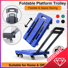Foldable Platform Trolley (200 KG). Durable Castors and Non-Slip Platform Good for Home and Office