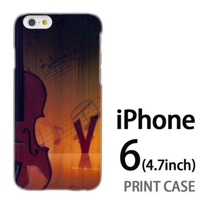 iPhone6 (4.7インチ) 用『No1 V ヴァイオリン』特殊印刷ケース【 iphone6 iphone アイフォン アイフォン6 au docomo softbank Apple ケース プリント カバー スマホケース スマホカバー 】の画像