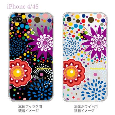 【Vuodenaika】【iPhone4/4Sケース】【カバー】【スマホケース】【クリアケース】【フラワー】 21-ip4-ne0033caの画像