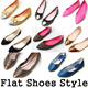 [33Type Flats New Arrival] Women Flats shoes Collections / Fashion shoes / Ribbon shoes / Pumps Casual Ladies shoes Low pumps