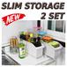 [Made in Korea] Slim Storage /Smooth sliding Type/ kitchen storage/ Seasoning Box Tray Container Organizer/ Airtight New Jar Salt Pepper Caddy /Rack shelf in sink