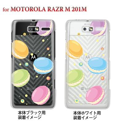 【MOTOROLA RAZR M 201M】【Soft Bank】【ケース】【カバー】【スマホケース】【クリアケース】【スイーツ】 09-201m-sw0002の画像