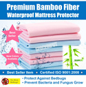 [LIMITED TIME PROMOTION] Premium Quality Bamboo Fiber Waterproof Mattress Sheet / Bed Protector Cover for Children and Adults