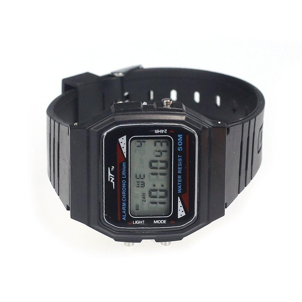 Qoo10新品防水スポーツ腕時計時計☆屋外でも☆LEDデジタル
