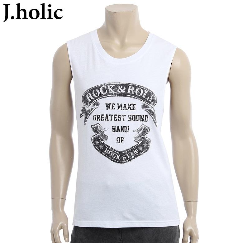 【クリックで詳細表示】[J.holic]Rock n roll sleeve-less shirts_922121060