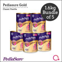 [Abbott]【Bundle of 5】PediaSure Gold Vanilla 1.6kg - For Singapore market