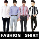 T121 March new ARRIVALS!![buy 2 free shipping]2015 NEW style! Korean shirt/ casual summer shirt /fashionable mens shirt/ shirt/ very cool!
