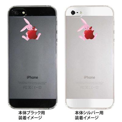 【iPhone5S】【iPhone5】【iPhone5】【ケース】【カバー】【スマホケース】【クリアケース】【ピンクうさぎ】 ip5-08-ca0039の画像