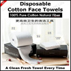 Disposable Cotton Face Towels/A Clean Fresh Towel Every Time/100% Pure Cotton Natural Fiber