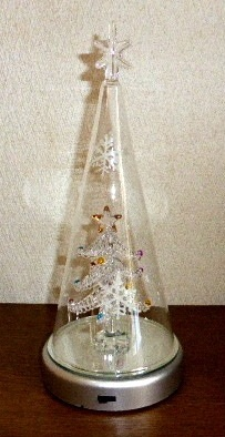 ●代引き不可送料無料クリスマス LEDガラスライト 91498の画像
