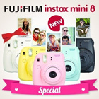 [FREE GIFTS]◆Instax Mini 8◆Fuji Instax Mini 8 8s Cheapest Polaroid Camera 8s 7S 25 50s Pink Blue Yellow White Black NEW LAUNCH Color Grape and Raspberry