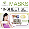 The Face Shop Mask Sheets Set of 10/5 Real Nature / Essential / Seed / Solution TheFaceShop faceshop