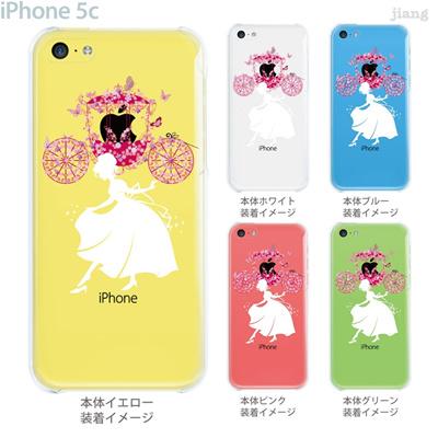 【iPhone5c】【iPhone5cケース】【iPhone5cカバー】【iPhone ケース】【クリア カバー】【スマホケース】【クリアケース】【イラスト】【クリアーアーツ】【シンデレラ】【花の馬車】 01-ip5c-zec067の画像