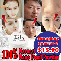 Pearl Powder-100% natural|Nano|Whitening|Anti-Blackhead|Anti aging|Anti Acne|loose powder