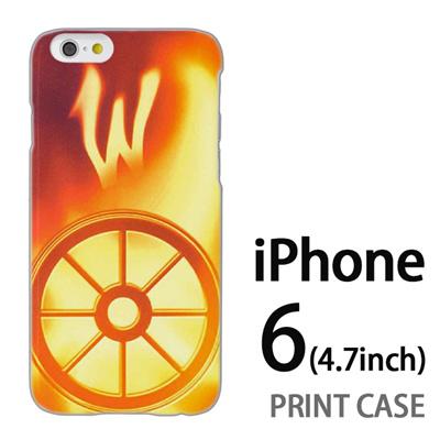 iPhone6 (4.7インチ) 用『No1 W 光り輝くタイヤ』特殊印刷ケース【 iphone6 iphone アイフォン アイフォン6 au docomo softbank Apple ケース プリント カバー スマホケース スマホカバー 】の画像