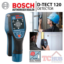 Bosch D-tect 120 Detector. Reliable detection of deep lying objects up to 120 MM.