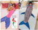 Mermaid blanket / Shark tail blanket fleece blanket sleeping bag kid Xmas present gift