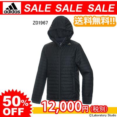 アディダス (adidas) PR パデッド フーデッド ジャケット ブラック(Z01967) CL973 [分類:メンズファッション 中綿ジャケット] 送料無料の画像