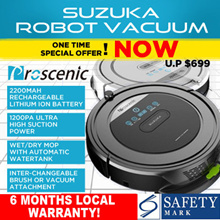 [INTRODUCTORY OFFER!] ★ PROSCENIC SUZUKA ROBOT VACUUM With WATER TANK 5-in-1★ JAPAN MOTOR★ SINGAPORE AGENT WARRANTY★ HIGH SUCTION POWER ★