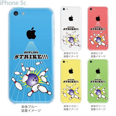 【iPhone5c】【iPhone5c ケース】【iPhone5c カバー】【ケース】【カバー】【スマホケース】【クリアケース】【クリアーアーツ】【ボウリング】 10-ip5c-ca0065の画像