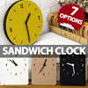Sandwich Wall Clock/Without Driling/Easy to install/Super-light weight/Zero Noise