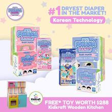 POKANA Pants - Baby Diapers Boy/Girl (4 and 6 packs) | Korean Technology | #1 Dryest Diaper