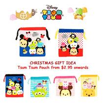 Tsum Tsum Drawstring Pouch - 6 New Designs/Christmas Gift