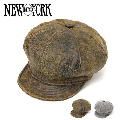 ニューヨークハット New York Hat キャスケット アンティークスピットファイアー レザー Antique Spitfire Hat 9245 Brownの画像
