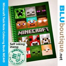 Ful colour Minecraft Task Book Minecraft Note Book Minecraft Colouring Book Self-inking Stamp