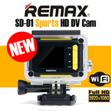NEW !!! REMAX SD-01 Portable Sports HD DV Cam 1080P Full HD WiFi 1.5 inch 12MP Camera 170° Wide Angle HDMI HD Interface Upto 32GB Waterproof Dustproof Shockproof Freezeproof Splashproof Stylish Design