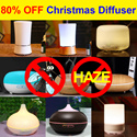 [Christmas 80% OFF] ★100ml/150ml/200ml/300ml/500ml★ Ultrasonic Aroma Diffuser |Humidifier |Air Purifier  |Nebulizer ★Multi-Color LED Light/ Auto Off/Relaxation/Super Quiet ★Warranty ★Best Price★
