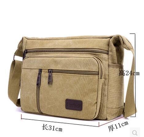 Women Men Canvas Shoulder Bag Travelling Bag Messenger Bag Sling Bags Deals for only S$55.99 instead of S$0
