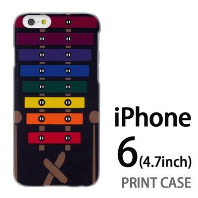iPhone6 (4.7インチ) 用『No1 X_木琴 黒背景』特殊印刷ケース【 iphone6 iphone アイフォン アイフォン6 au docomo softbank Apple ケース プリント カバー スマホケース スマホカバー 】の画像