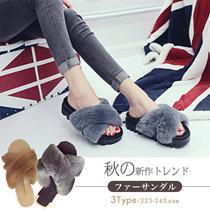 秋の新作トレンドファーサンダル3TYPE!