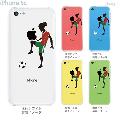 【iPhone5c】【iPhone5cケース】【iPhone5cカバー】【iPhone ケース】【クリア カバー】【スマホケース】【クリアケース】【イラスト】【クリアーアーツ】【サッカー】【リフティング】 01-ip5c-zec068の画像