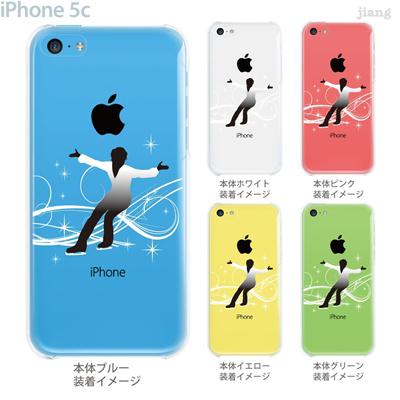 【iPhone5c】【iPhone5c ケース】【iPhone5c カバー】【ケース】【カバー】【スマホケース】【クリアケース】【クリアーアーツ】【アイススケート】 10-ip5c-ca0078の画像