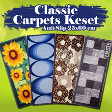 [NEW MOTIF ] Classic Carpets Keset Anti Slip 25x60 cm